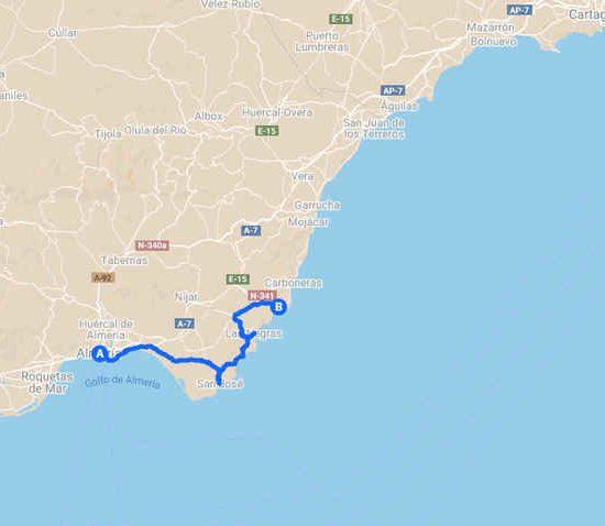 Cabo de Gata en bicicleta