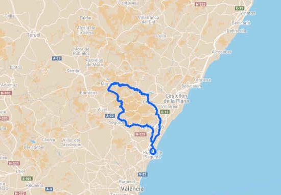 bicicleta de montaña por el mediterráneo