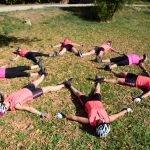 Yoga y cicloturismo viaje en bicicleta en grupo Valencia