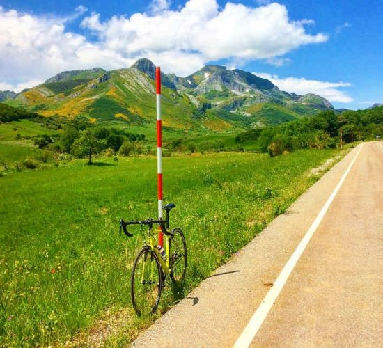 León en bicicleta de carretera