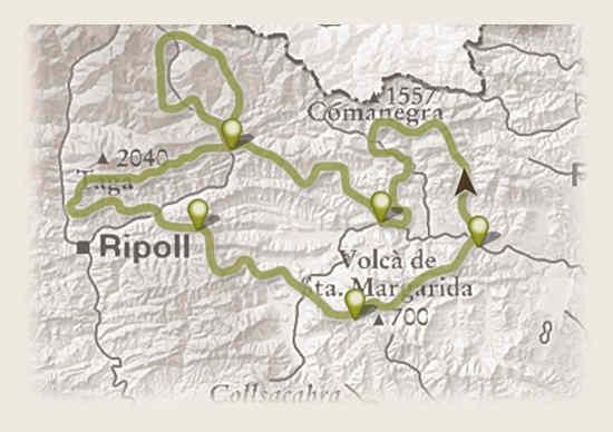 recorrido ruta de los contrabandistas en mtb kolotrip