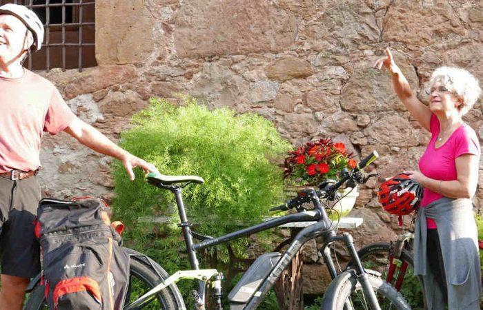 ruta medieval en bicicleta jubilados en bici senior viaje