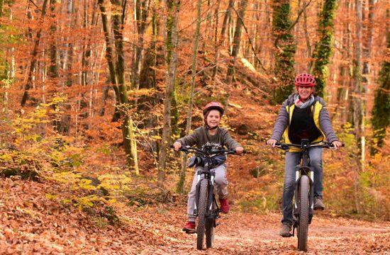 garrotxa escapada familia bici