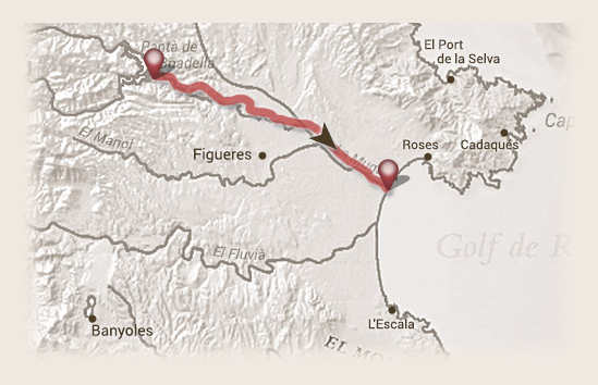 recorrido rio muga ebike