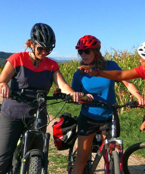 viaje en bicicleta en familia cataluña