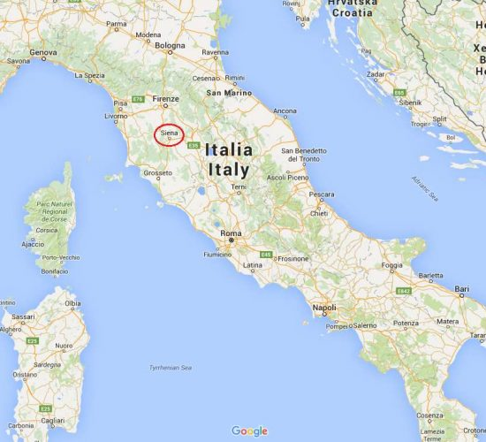 Mapa cicloturista italia ubicacion siena