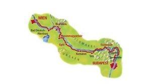 recorrido de Viena a Budapest danubio en bicicleta