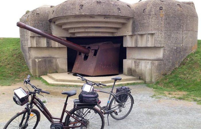 normandía en bicicleta playa desembarco