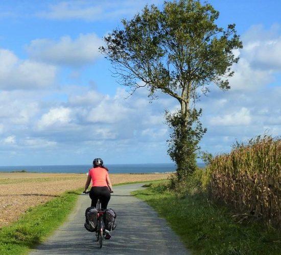 viaje en bicicleta por Normandía
