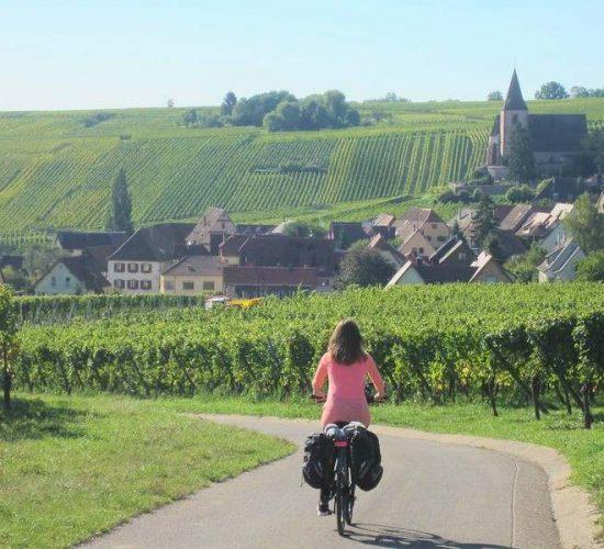 Alsacia en bici