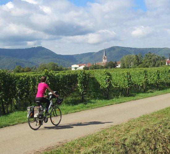 Viaje en bicicleta por Alsacia