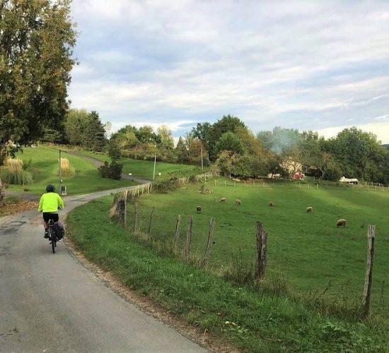 valle de la dordoña en bici