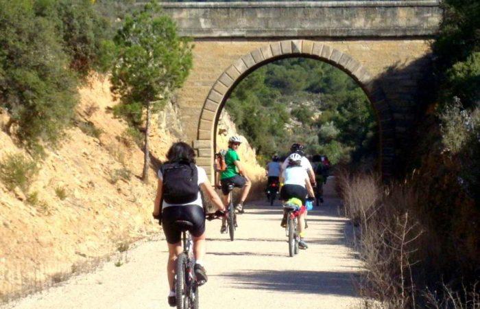 Vía Verde del Zafán en bicicleta cicloturismo